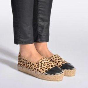 ALDO Smolin Flat Espadrilles Cheetah Size 8.5